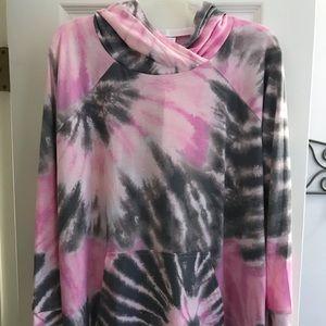 Lularoe Amber long sleeve T-shirt hoodie XL
